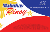 Mabuhay Pinoy $50 - International Calling Cards